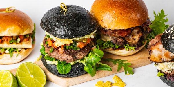 Burger menu s hranolky a limonádou pro 1 či 2 osoby