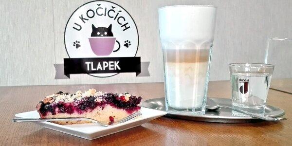 Nápoj a domácí dortík v kladenské kočičí kavárně