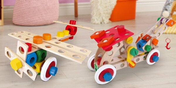 Dřevěné stavebnice Baufix pro děti od 3 let