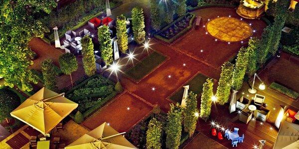 5chodová večeře v barokní zahradě Le Grill pro dva