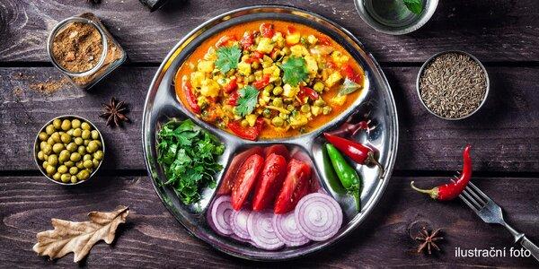 Indické hlavní jídlo XL s masem i bez