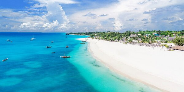 5* hotel na Zanzibaru. Bazén, spa i dětské hřiště