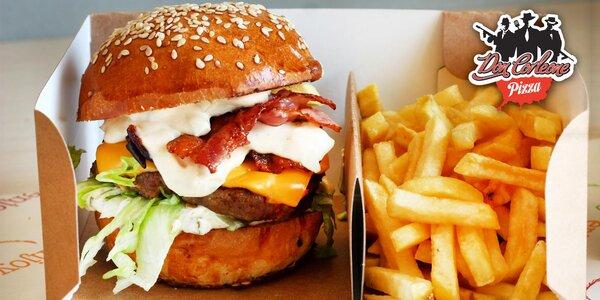 Burgery podle výběru i s hranolky a nápojem