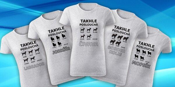 Dámská trička pro milovnice psů: 11 psích ras