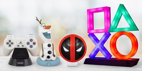 Lampy s motivy: PlayStation, Přátelé i Star Wars
