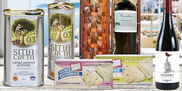 Lahůdky z Kréty: olivový olej, víno i chalva