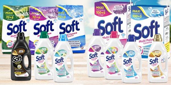 Účinné prací gely a prášky Soft: 12 variant
