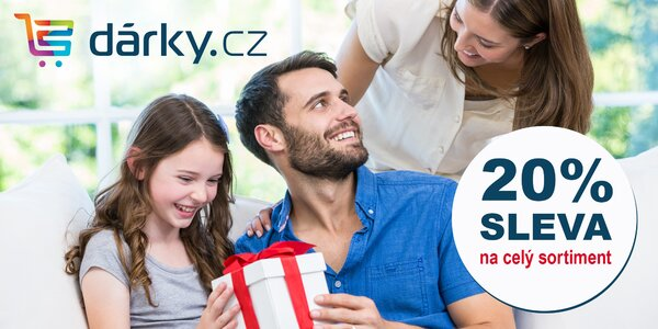20% sleva na celý sortiment e-shopu darky.cz