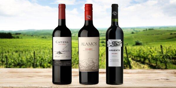 Argentinské víno Malbec: 3 druhy, láhev či karton