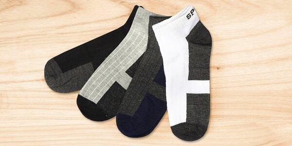 12 párů pánských kotníkových ponožek Sport