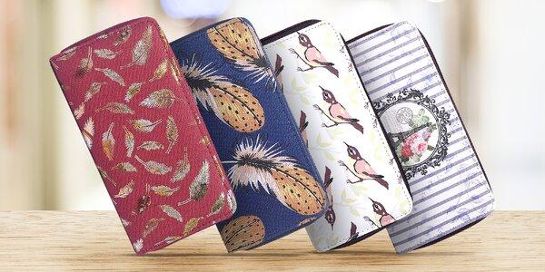 Dámské peněženky na zip se zajímavými vzory