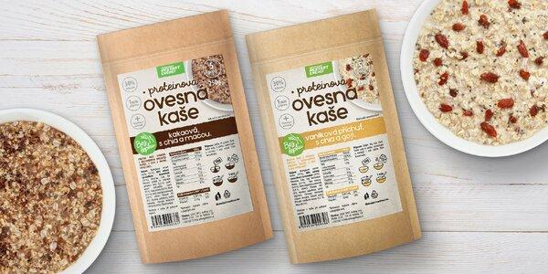 Proteinové ovesné kaše bez lepku: vanilka i kakao