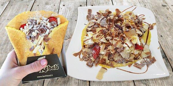 ChocoKebab z italské čokolády a káva či mléčný shake