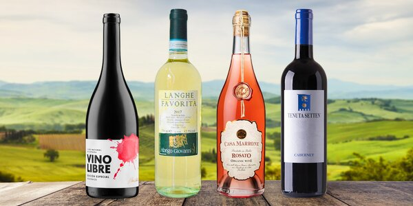 Kvalitní vína z Itálie i Španělska vč. bio variant