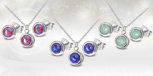 Ocelové sety s krystaly Swarovski® ve 24 odstínech