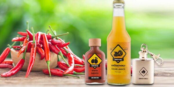Klíčenka se sušeným chilli a ostrý nápoj či omáčka