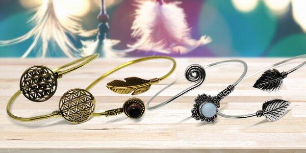 Jóga náramky z kovu i s různými minerály