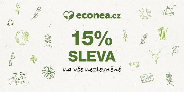 15% sleva na veškeré nezlevněné zboží na Econea.cz