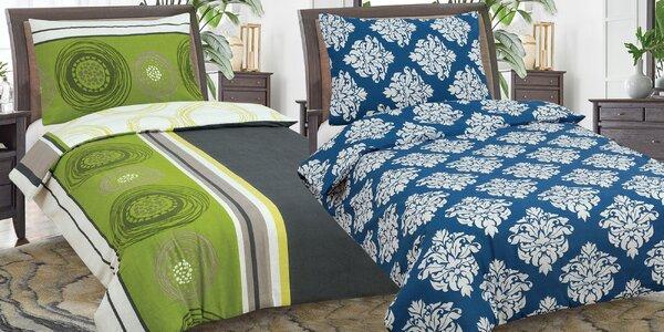 Flanelové povlečení v 6 vzorech ze 100% bavlny