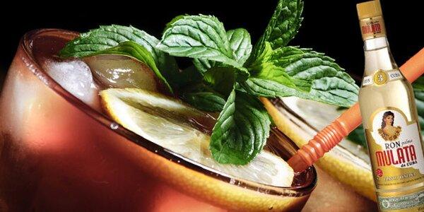 Kvalitní kubánský rum: 2 panáky + nachos s dipem nebo 4 drinky