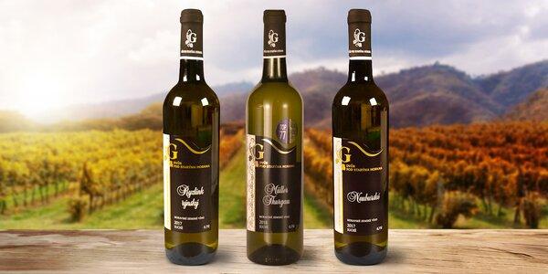Sety 3 nebo 6 vín: Müller, Ryzlink i Neuburské