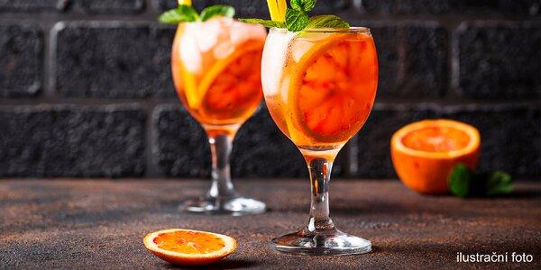 Jemný svěží drink Ciao Spritz s vínem a pomerančem