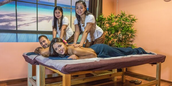 Partnerská Royal masáž i se sklenkou sektu a lázní