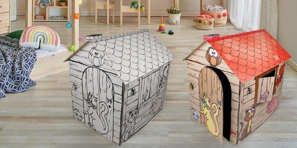 Pevné kartonové domečky ve třech velikostech
