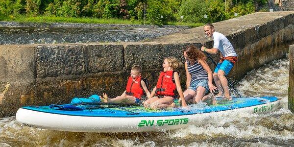 Z Krumlova do Zlaté Koruny na paddleboardu i raftu