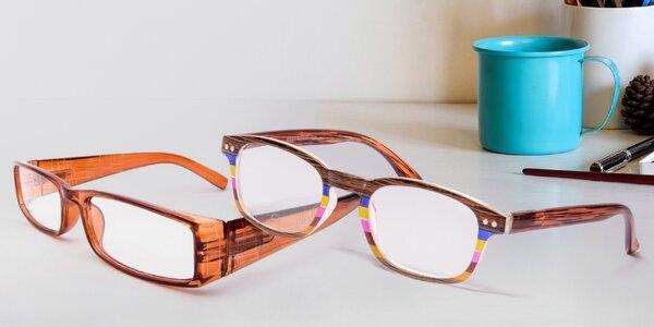 Dioptrické čtecí brýle s pouzdrem: 0,5 až 4 dioptrie