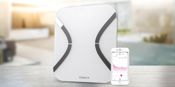 Chytrá váha Umax Smart Scale s mobilní aplikací