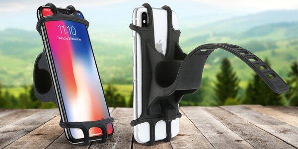 Černý silikonový držák na mobilní telefon