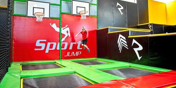 90 minut skákání a zábavy ve SPORT JUMP aréně