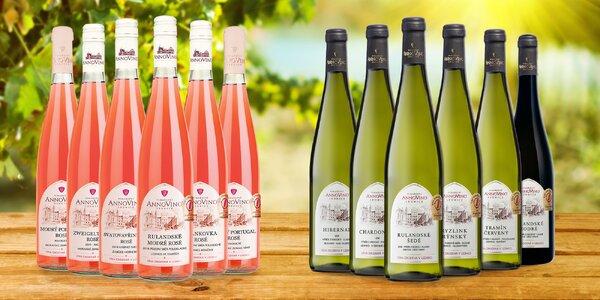 Kolekce 4 nebo 6 láhví moravského vína z Lednice
