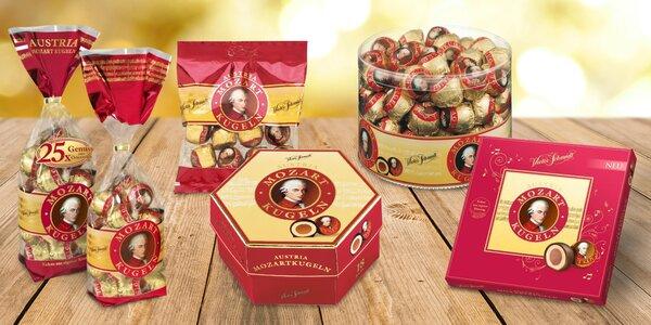 Oblíbené Mozartovy koule v sáčku i krabičce