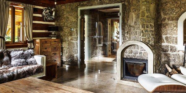 Chata pro 2 až 6 osob s vlastním wellness a saunou