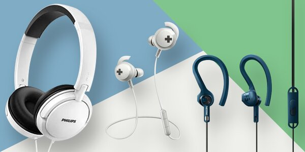 Sluchátka Philips: pecky, na uši i přes hlavu