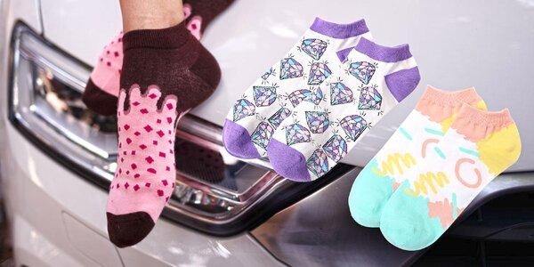 Nízké designové ponožky LØVE + FUN SOCKS
