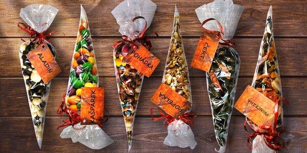 Kornouty plné oříšků v čokoládě: 300 nebo 400 g