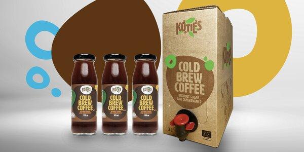 Česká bio cold brew káva: 6× lahvička nebo 3l box