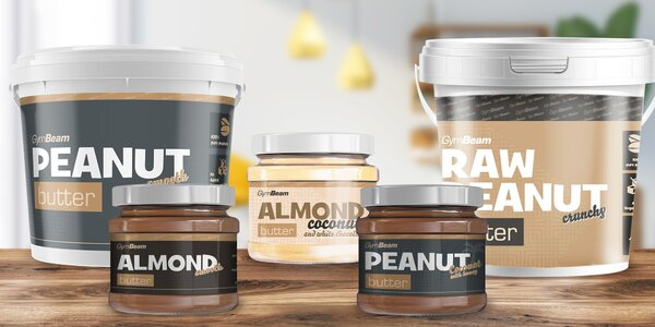 4 ks ořechového másla: smooth, crunchy i s kokosem