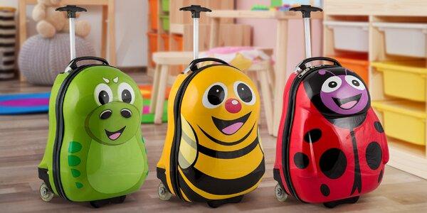 Roztomilý dětský kufr: včelka, dinosaurus a beruška