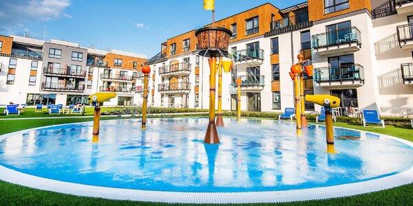 Nový resort u Baltu s vodním parkem a polopenzí