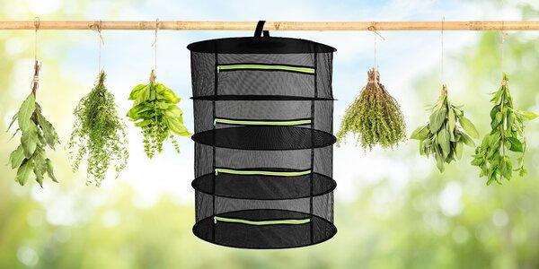 Praktická síť pro sušení bylinek, hub či koření