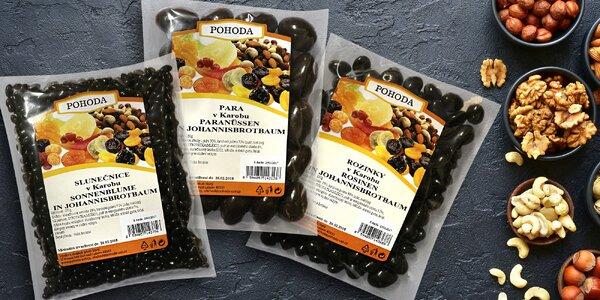 Ořechy a ovoce v karobu - zdravá čokoláda