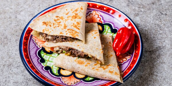 S sebou: Buritto, Quesadilla a Bowl Mexicano