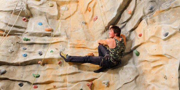 2hod. lezení na navijáku na umělé stěně pro 1 i 2