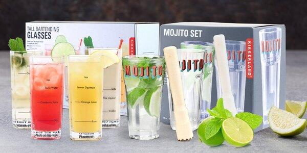 Barmanské sklenice i set na mojito a jiné drinky