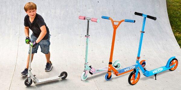 Koloběžky s motivy Hasbro: My Little Pony a Nerf
