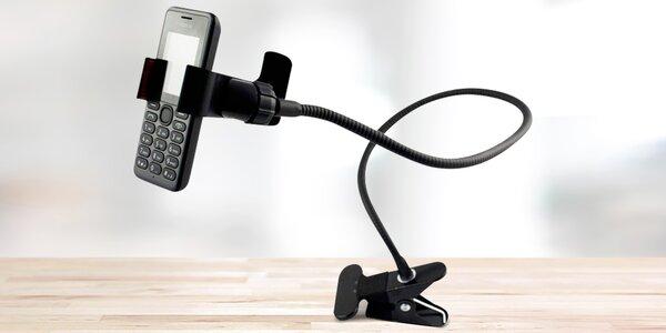 Praktický držák na mobil se skřipcem